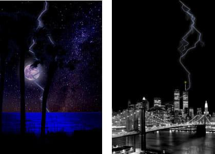 Lightning Bug - Sleep Clock : 満天の星空や都会の空に雷が・・・