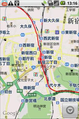 My Tracks : 新宿を通過