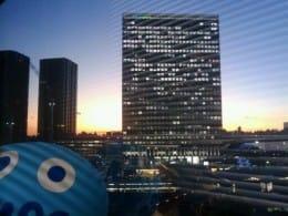 オフィスからの夕焼けです~