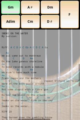 Solo : コード譜とのオーバーレイ表示