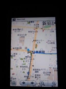 東新宿に到着