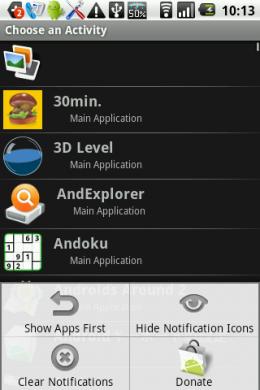 Clearからアプリ解除