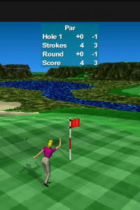 Par 72 Golf II Lite:パー以上だと手を上げて喜ぶ