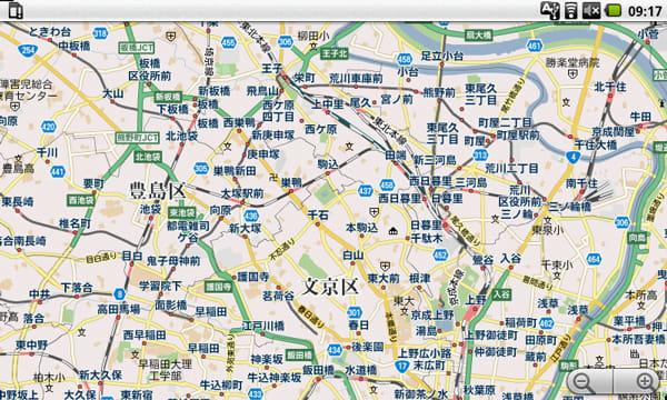 googlemapでも広範囲を表示可能。