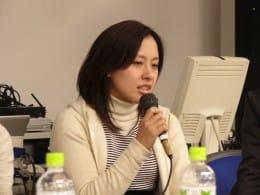 トークセッションではユーザー目線でアプリに対する提言をズバズバ。Androidへの深い愛情を感じる宮田さん。