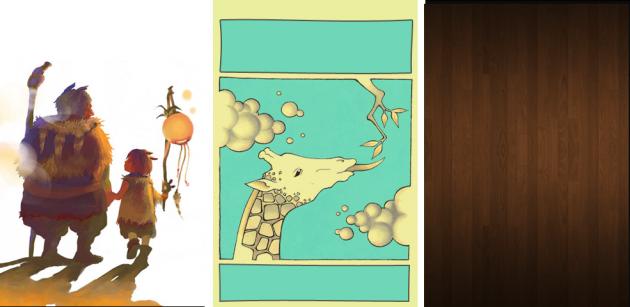 左:OrangeSlide 中央:Giraffe 右:AndroidIbex