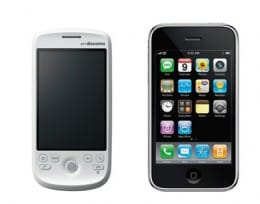 「HT-03A」と「iPhone 3G」