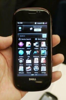 Dell「mini3」。通常のものとOPhone対応の2つを展示していた