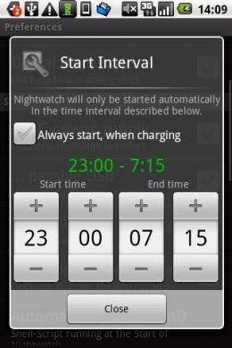 時計に変わる時間を指定