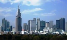 Height Meter:今回使用した写真。写真左の超高層ビルが通称「ドコモタワー」