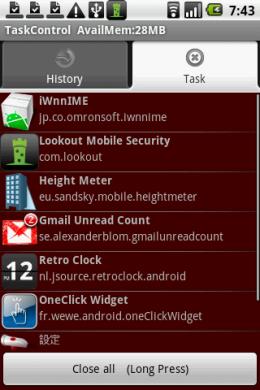 TaskControl : 「Close all」、このボタンが癖になる!