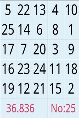 Touchorder:1から順番に数字を探せ!