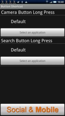 Button shortcut: Xperiaの方はカメラボタン用へ、HT-03Aの方は検索ボタン用へお進みください。