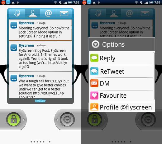 Flyscreen:Twitterウィジェット