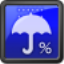 降水確率ステータスバー