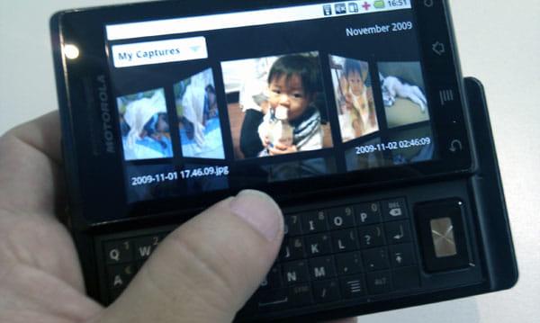 Media Galleyで写真一覧をランドスケープで表示したところ。