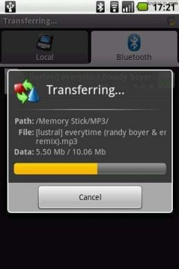 Bluetooth File Transfer :スクリーンショット