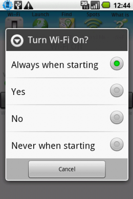 WeFi - Automatic 図2 WiFi : 起動!