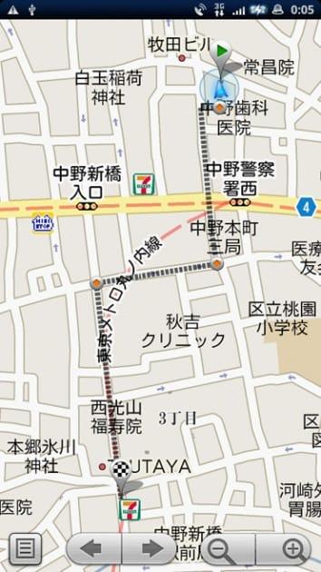 クーポンマップ:GoogleMapと連携してお店までの経路をナビゲート