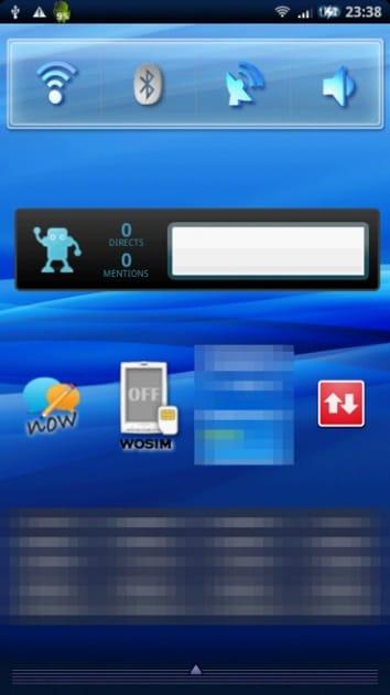 Xperiaの「クイック設定」ウィジェット