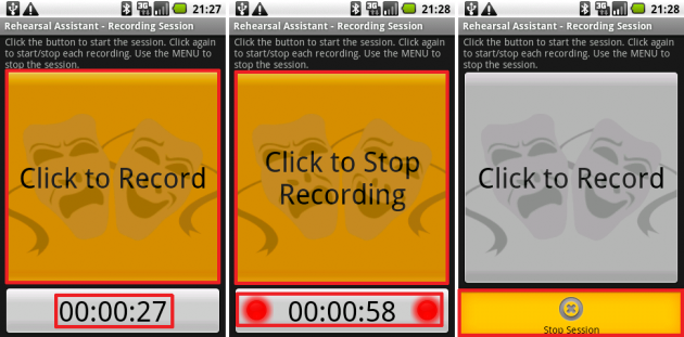 Rehearsal Assistant/VoiceRecrd: いらない部分は一時停止することでデータの編集作業が不要になりますね。