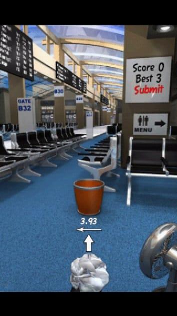 Paper Toss:「Airport」の画面