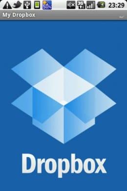 Dropbox:起動画面