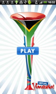 バーチャル・ブブゼラ サッカーホーン : 元祖南アフリカのブブゼラデザイン