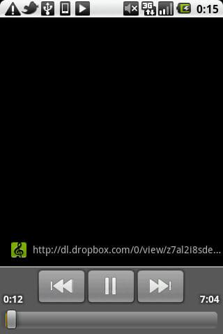 Dropbox: 1曲ずつの再生になってしまうのは不便かも