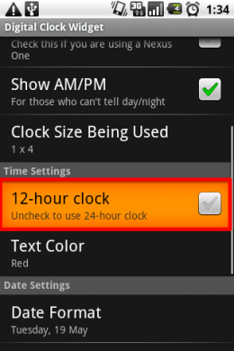 Digital Clock Widget:12時間表記に慣れている方はチェック!