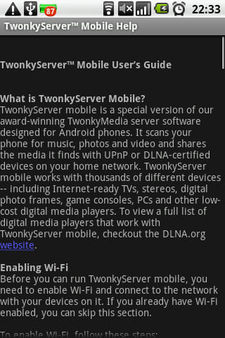 TwonkyServerMobile:説明が全て英語!