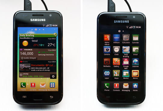 「GALAXY S」:iPhoneと似ているユーザーインターフェース