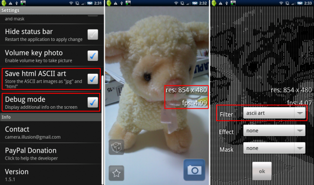 Camera Illusion: fpsの数値が小さいときは処理が遅くなってしまっている可能性があります。