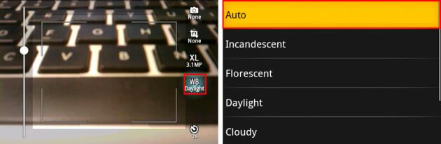 Vignette : Autoを含めて7種類から選択できます。