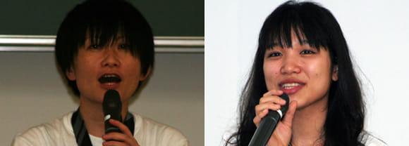 矢野りん氏(左)あんざいゆき氏(右)