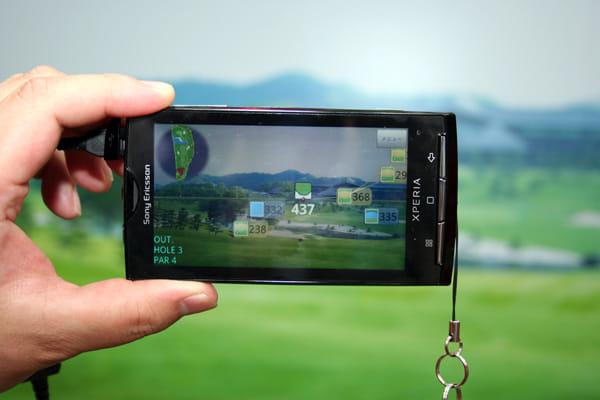 ドコモブースではARゴルフナビ等のARアプリの展示も実施
