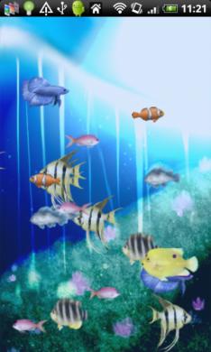 AquaCharger : まるでバーチャル水族館!
