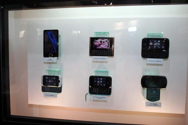 6種類のコンセプトモデルも展示。画面が横にスライドするタイプも