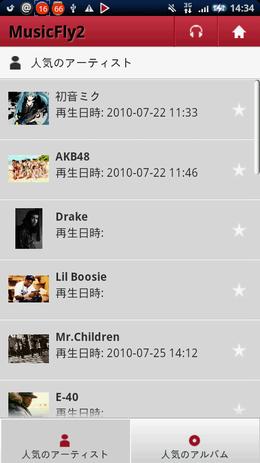 MusicFly2:人気のアーティスト