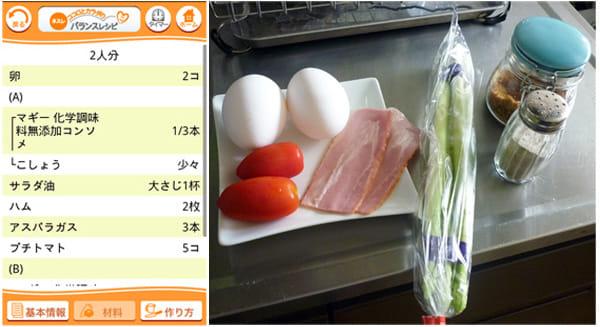 ネスレ ココロとカラダのバランスレシピ:材料