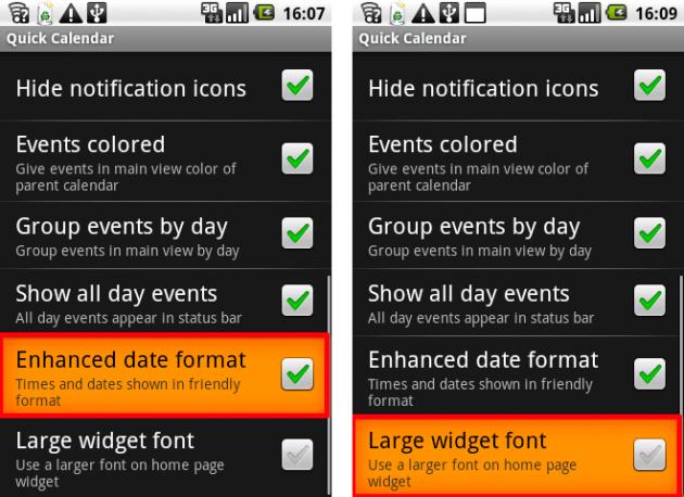 Quick Calendar: そうです、本アプリにはウィジェットがあります!