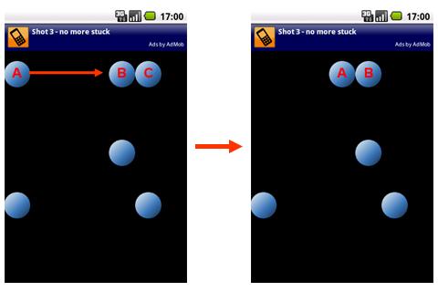 Shot 2nd Edition:隣り合ったボールの動き