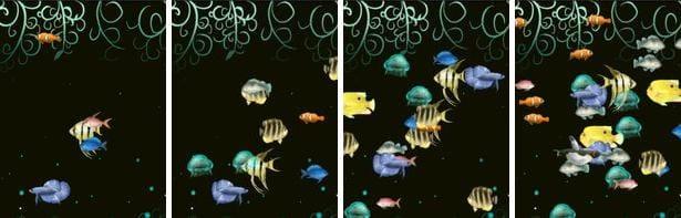 AquaCharger : 出現する魚の量。左から、少ない・普通・多い・特盛。4種類から選べます。