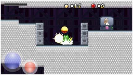 ワンダのレプリカ島:ジャンプ中に赤いボタンを押すとロイド君が落下攻撃