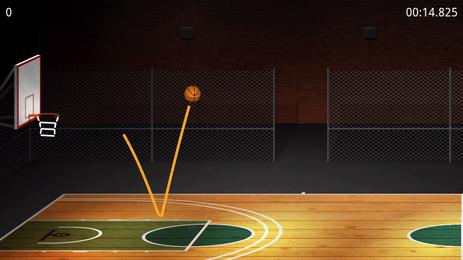 BasketBall:ワンバウンドでシュートしてボーナスゲット