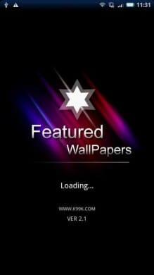 ブティック壁紙コレクション:アプリ起動後、更新を確認。まずはエンターをタップ