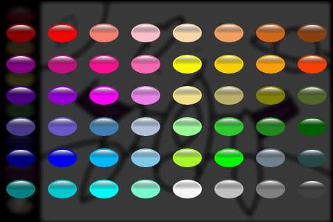 Zebra Paint:パレットから色を選択