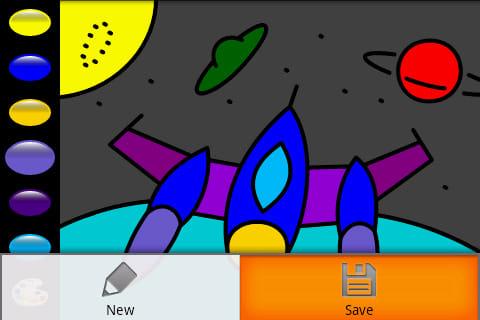 Zebra Paint:SDカードに保存も可能