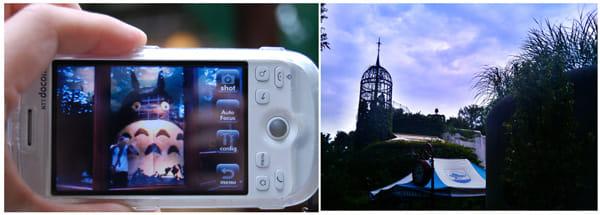 『Camera360』のHDRモードで撮影。幻想的な雰囲気になります