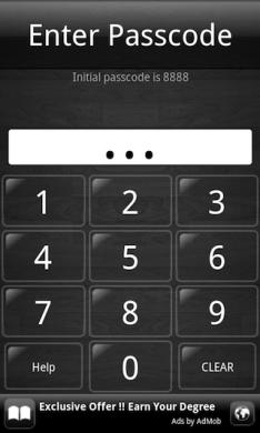 App Lock: 4つの数字でアプリに鍵をかけることができます